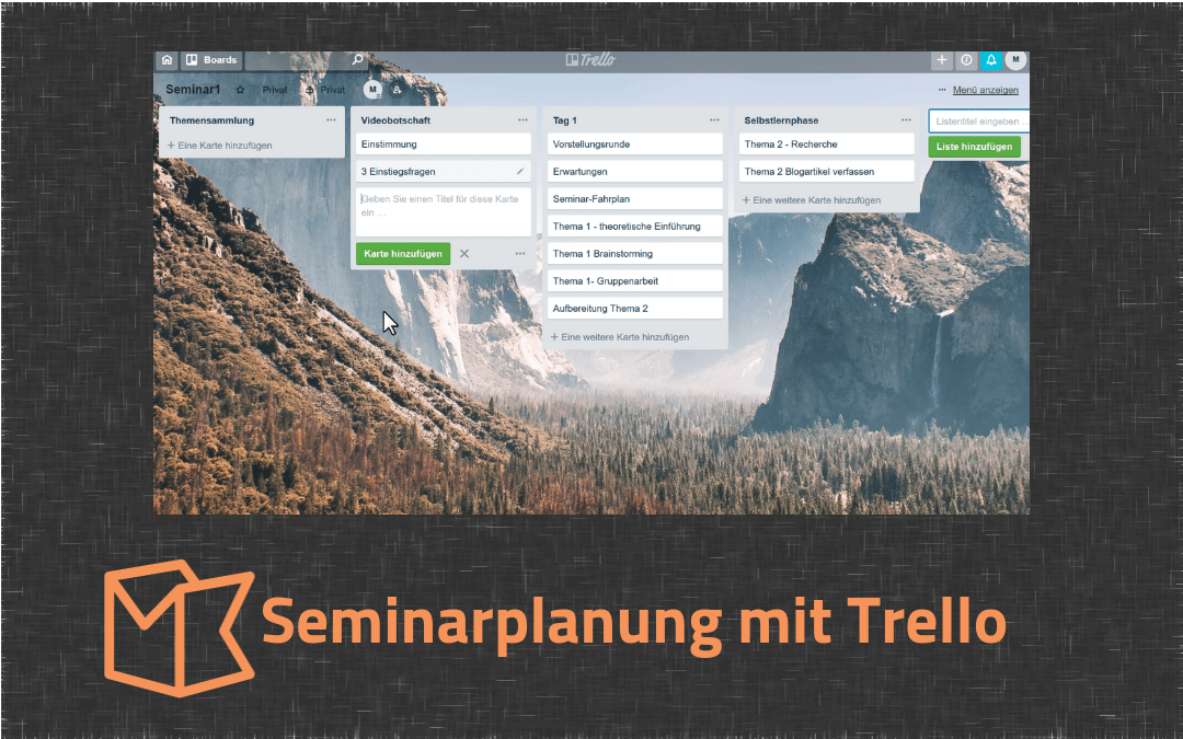 Video: Seminarplanung mit Trello